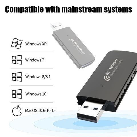 Blueshadow USB WiFi Adapter 1300Mbps