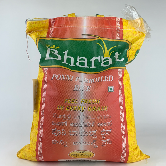 Bharat Ponni Parboiled Rice 20Lbs