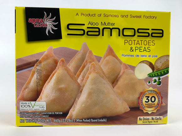 Apna Taste Potatoes & Peas Samosa 660 Gm