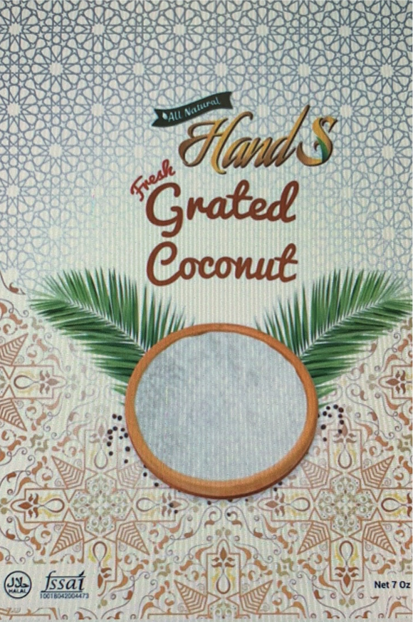 Hands Fresh Shredded Coconut 200 gm (wet)