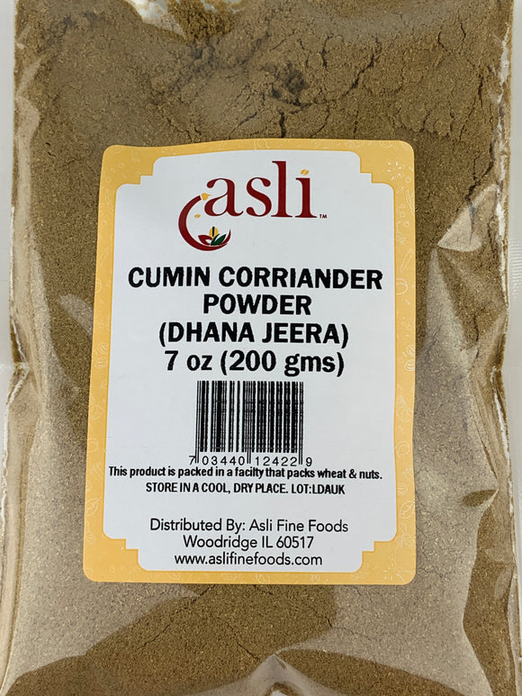 Asli Corriander Cumin Powder (Dhana Jeera Powder) 7 Oz (200 Gms)