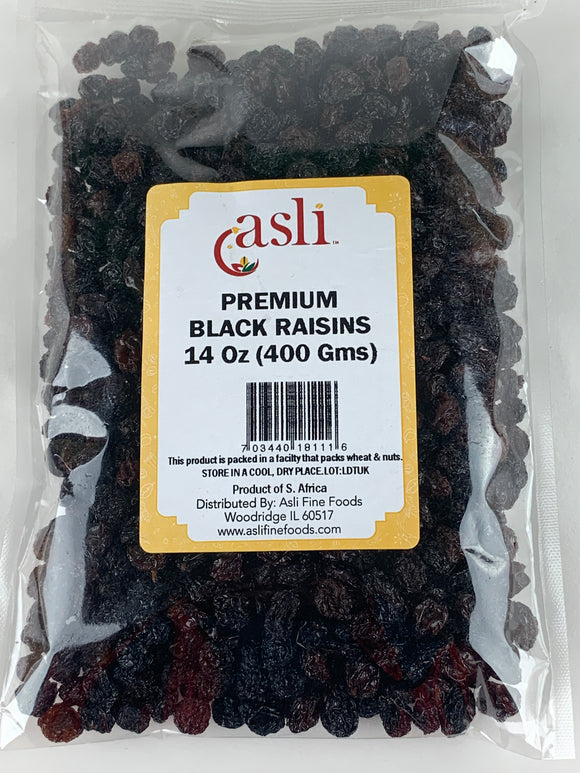 Asli Black Raisins 14 Oz