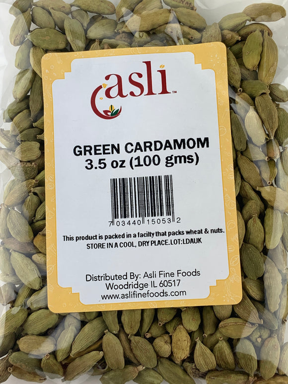 Asli Green Cardamon (Elaichi) 3.5 Oz