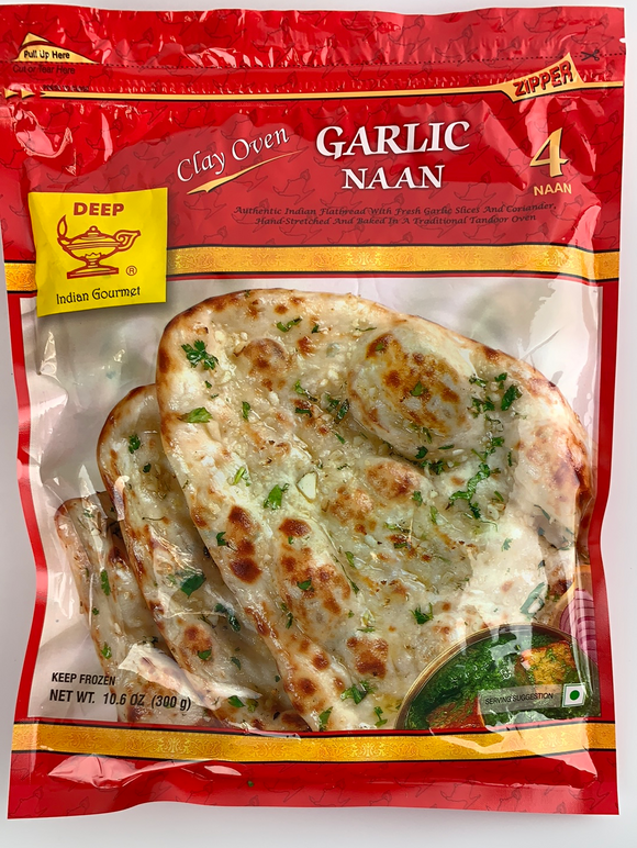 Deep Garlic Naan 4 pc