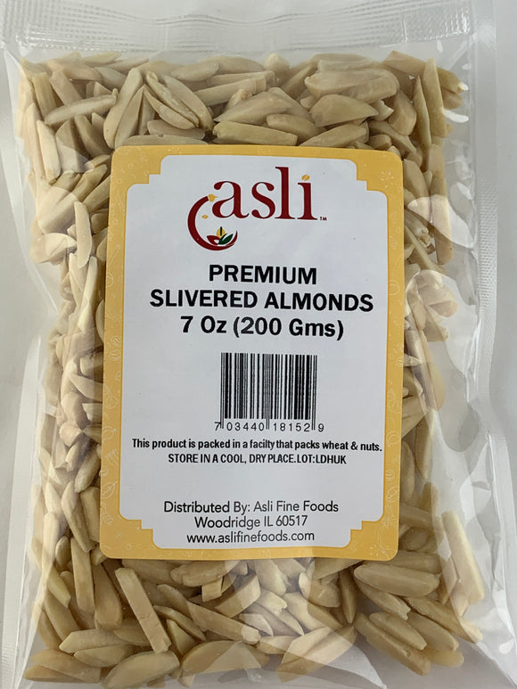 Asli Almonds Slivered 7 Oz (200gms)