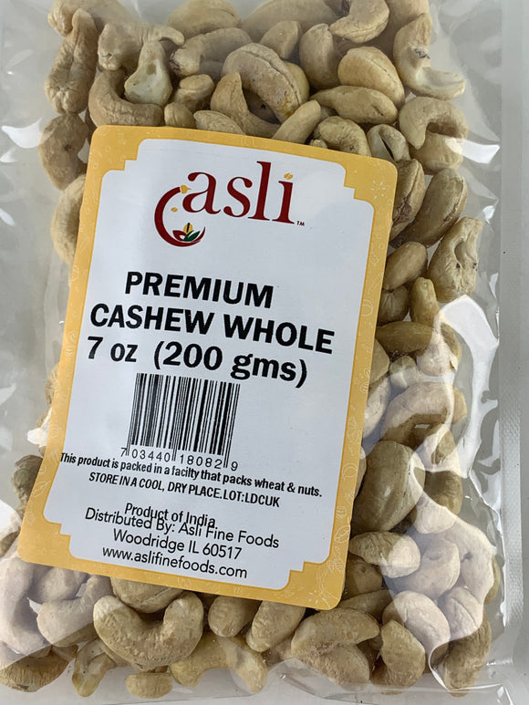 Asli Cashew Whole 7 Oz