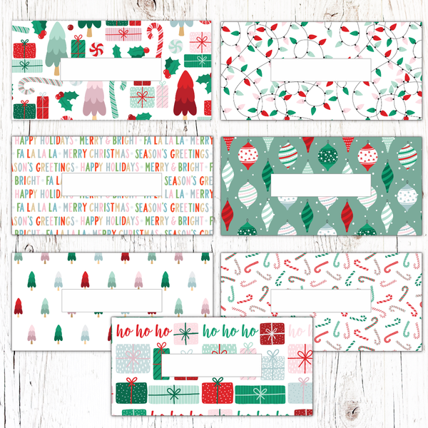 Christmas Horizontal Cash Envelopes (Printable)