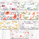 Floral Blooming Horizontal Cash Envelopes (Printable)