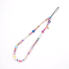 Load image into Gallery viewer, Rainbow beaded phone strap