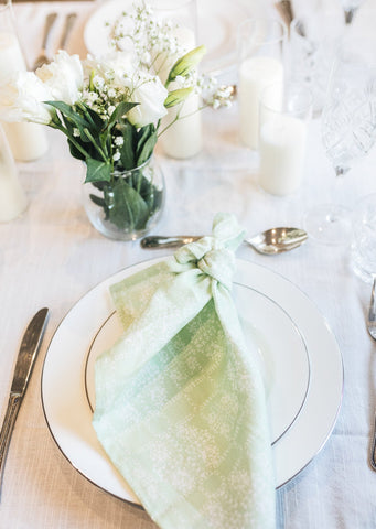 Pistachio Geo Napkins - Set of 4 [On Demand]