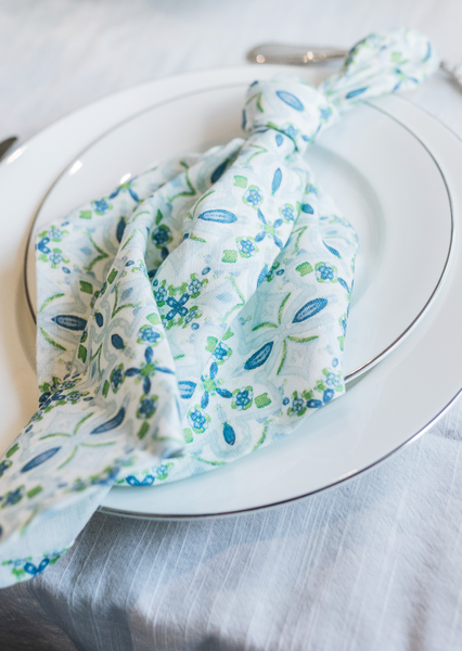 Tremezzo Tile Napkins - Set of 4 [On Demand]