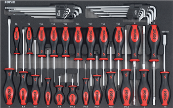 Filled toolbox S10 378pcs (red)