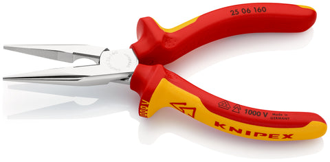 KNIPEX 25 06 160 Snipe Nose Side Cutting Pliers, (Radio Pliers)