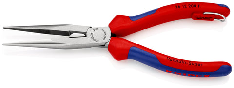 KNIPEX 26 12 200 T Snipe Nose Side Cutting Pliers, (Stork Beak Pliers)