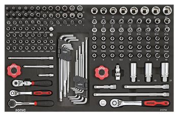 Filled toolbox S8 344pcs (black)