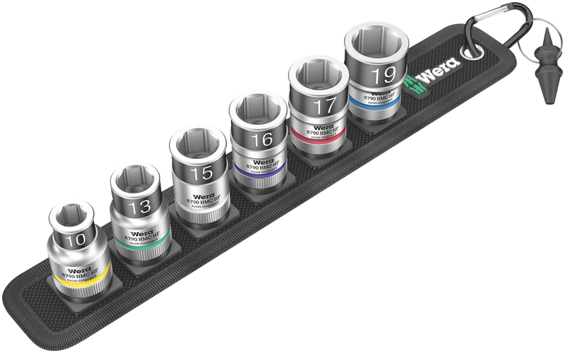 "Belt C 1 Zyklop socket set with holding function, 1/2"" drive"