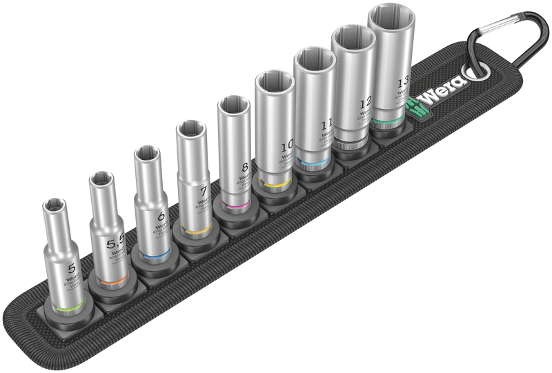 "Belt A Deep 1 socket set, 1/4"" drive"