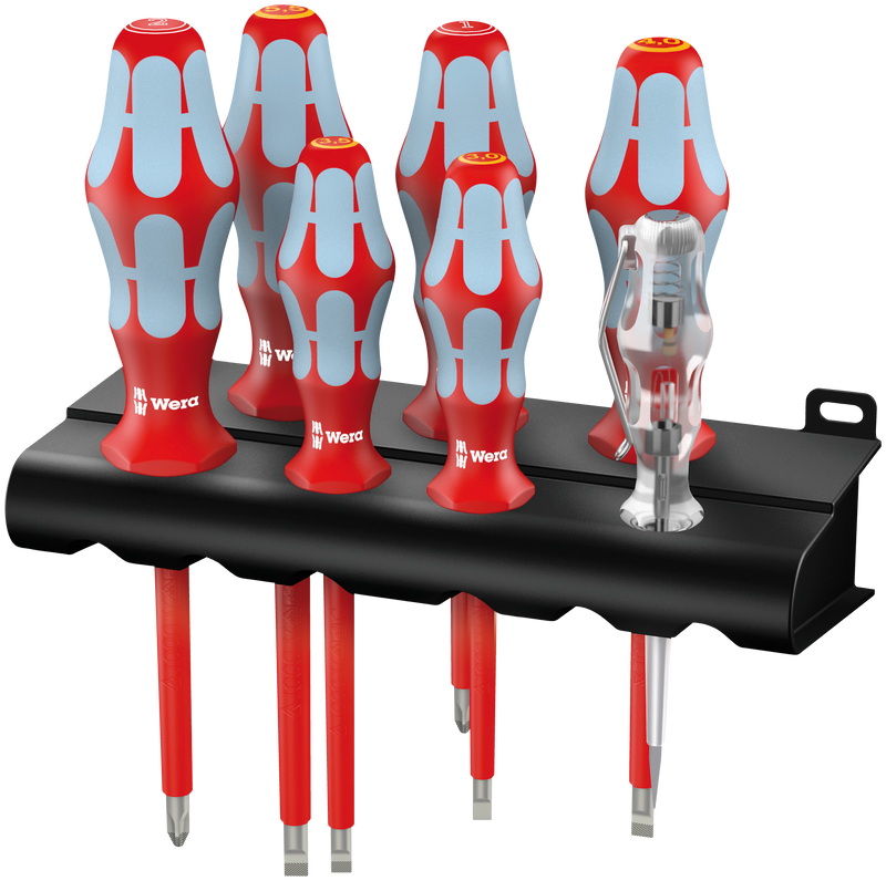 3160 i/7 Screwdriver set, stainless and rack
