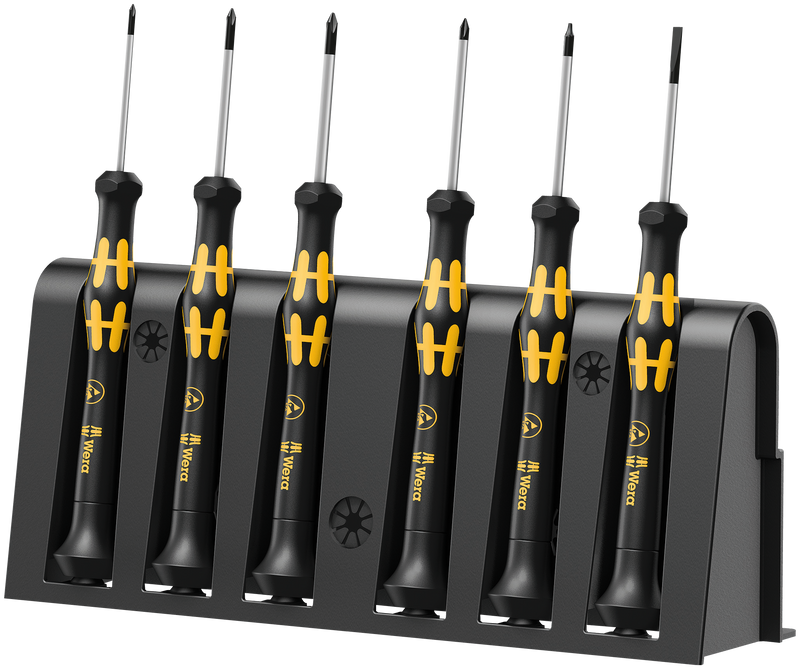 1550/6 ESD Screwdriver set and rack for electronic applications