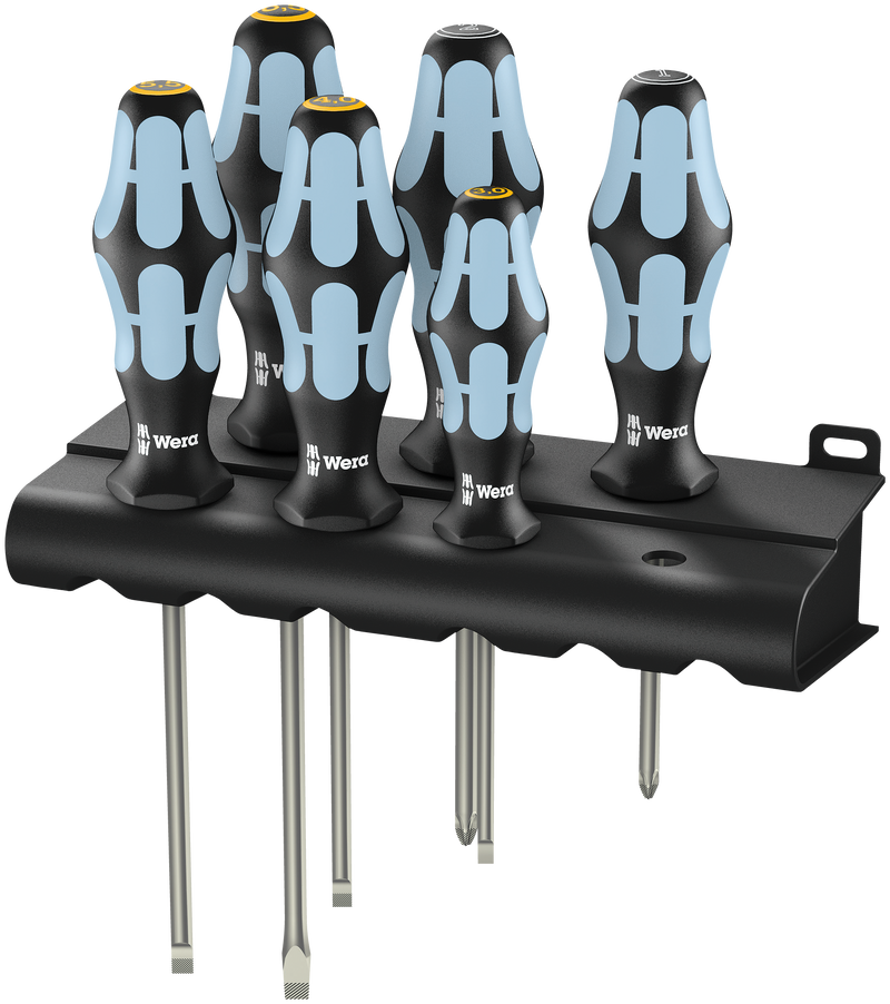 3334/3355/6 Screwdriver set, stainless and rack