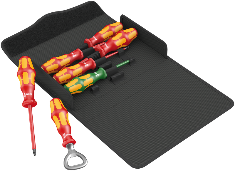 Kraftform 100 iS/7 set 3 screwdriver set Kraftform Plus series 100. Partly with reduced blade diameter
