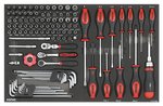 Filled toolbox S10 285pcs (black)