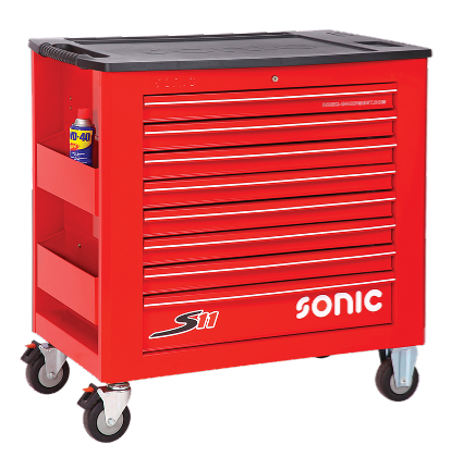 Filled toolbox S11 345pcs SFS (red)
