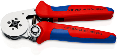 KNIPEX 97 55 04 Self-Adjusting Crimping Pliers for wire ferrules, with lateral access