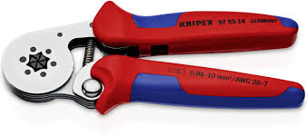 KNIPEX 97 55 14 Self-Adjusting Crimping Pliers Chrome Plated 180 mm