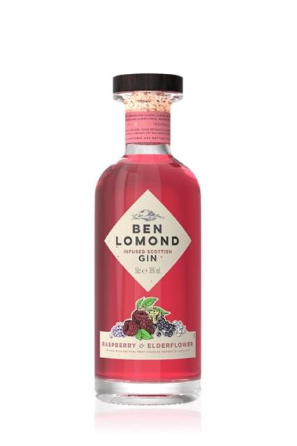 Ben Lomond - Raspberry & Elderflower Gin (50cl, 38%).