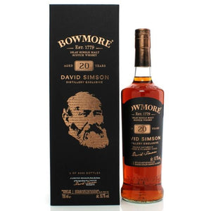 BOWMORE 20 YEAR - DAVID SIMSON DISTILLERY EXCLUSIVE (70cl, 50.7%).