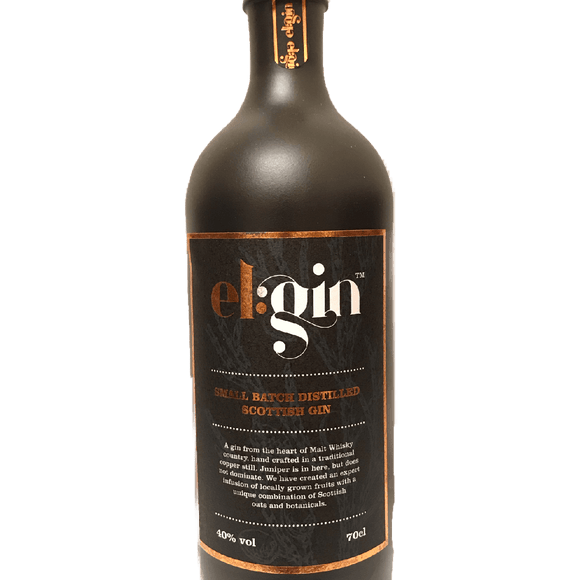 EL:GIN - SMALL BATCH DISTILLED SCOTTISH GIN (70cl, 40%).