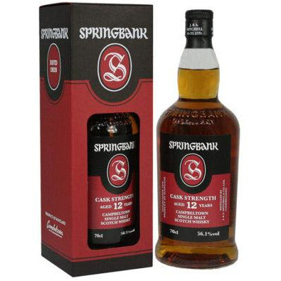 SPRINGBANK 12 YEAR CASK STRENGTH 2020 (70cl, 56.1%).