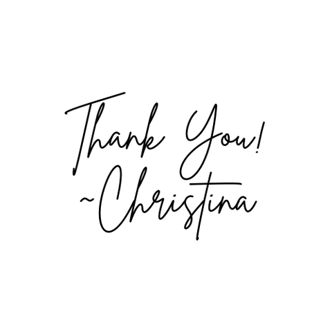 Thank you from Christina