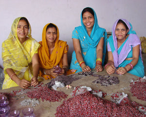 Women artisans in India that work with this organization under fair trade practices