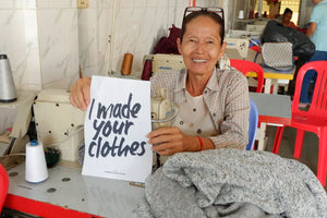Seamstress in the fair trade workshop in Cambodia