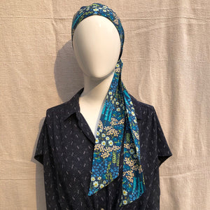 Midnight Meadow Hair Scarf Made in the USA