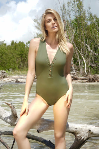 Suzette Button Up Swimsuit