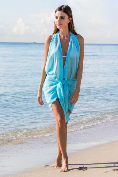 Aqua coverup pareo resortwear