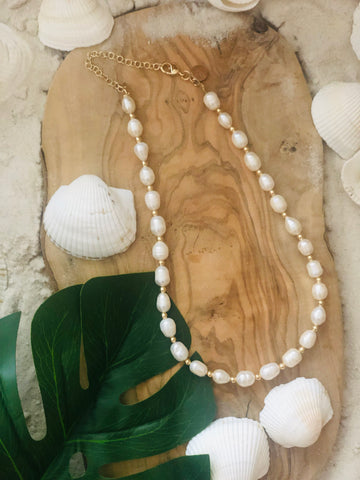 Georgina Baroque Pearl Necklace