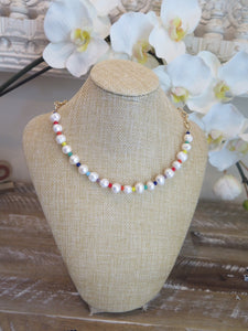 Hope Rainbow Crystal Baroque Chain Necklace