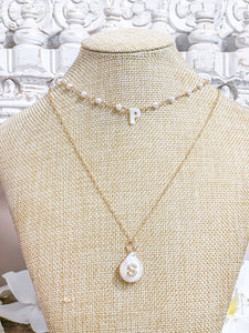 Most Wanted Baroque Pearl Initial Necklace