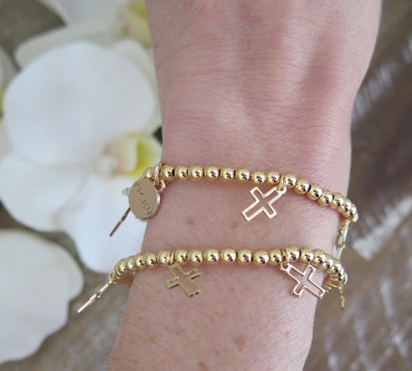 Monica Cross Stackable Bracelet