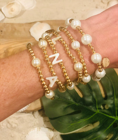 Stackable Bracelets: Initials