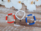 Red, White and Blue Patriot Bracelet Set
