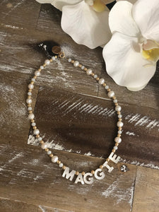 Stassi Personalized Name Pearl Necklace