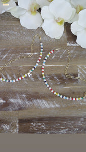 Hope Happy Small Pearl Necklace