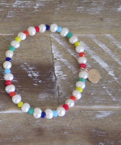 Hope Small Rainbow Baroque Pearl Bracelet