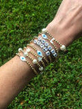 Choose Happy Stackable Bracelets