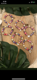 Mother of Pearl Initial Rainbow Bracelets
